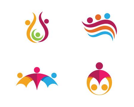 Community care Logo illustration.