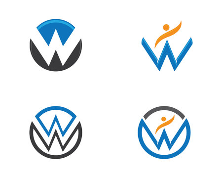 W Letter Logo Business Template Vector icon illustration.