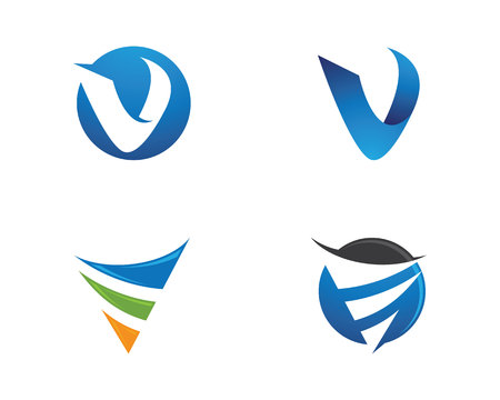 V Letter Logo illustration. Illustration
