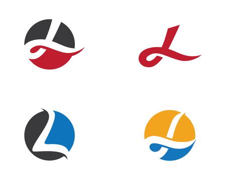 L Buchstabe-Logo-Geschäfts-Schablone Vektorikone Standard-Bild - 82233399