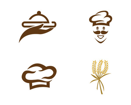 Chef logo template vector icon 向量圖像