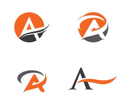 A Letter Logo illustration. Illustration