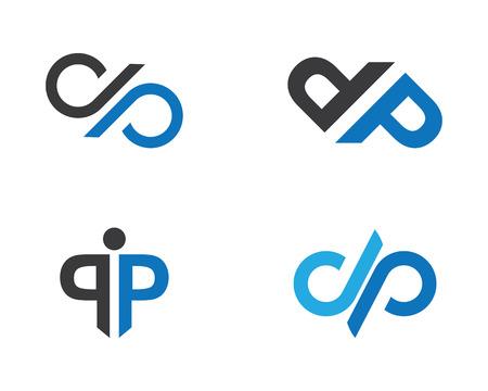 P Letter Logo illustration.
