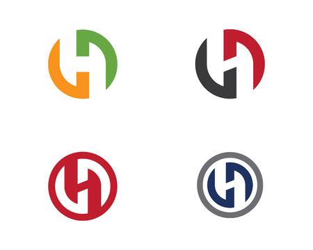 H-Buchstabe Logo Template Design Vector Illustration. Standard-Bild - 82430541