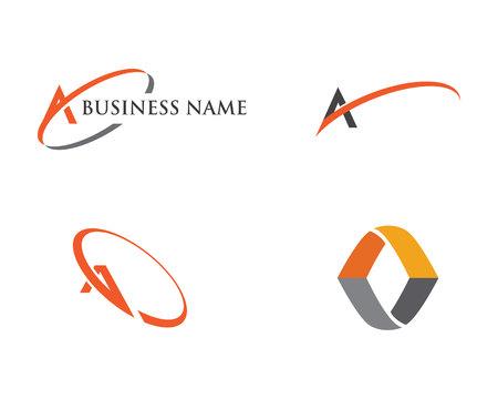 A Letter Logo. Vector illustration. Illustration