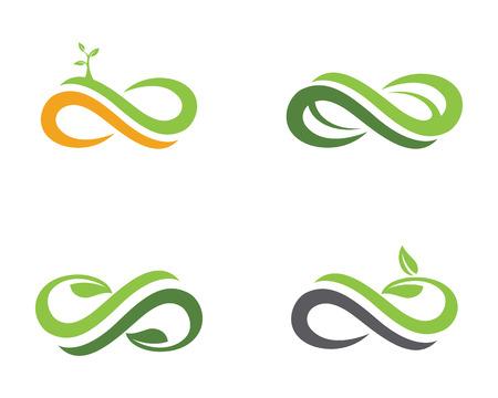 Infinity logo template. Vector illustration.