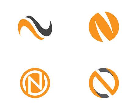 N Letter Logo Template Illustration