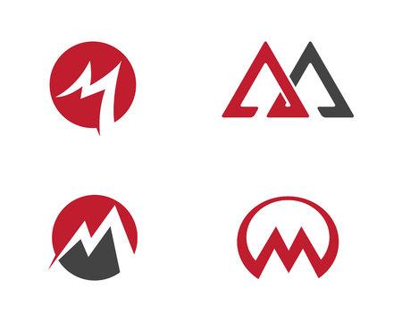 M Letter icons Illustration