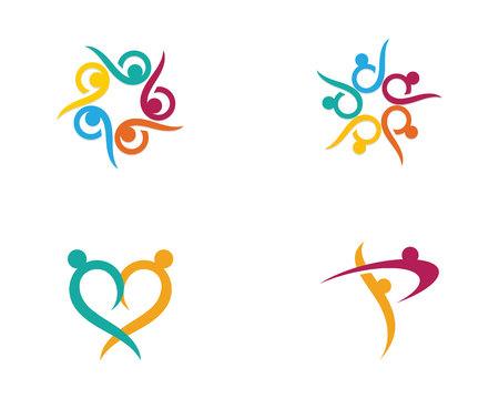 Community care Logo. Vector illustration. Illustration