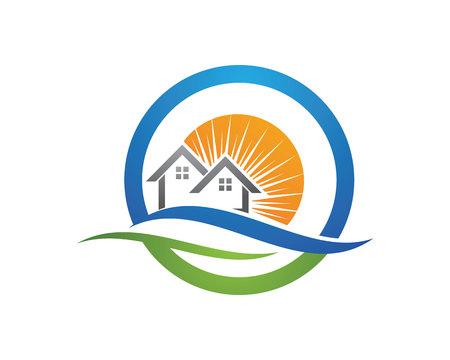 Property Logo Template Vector illustratie.