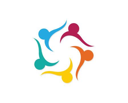 Gemeinschaftspflege Logo Illustration. Standard-Bild - 83289614