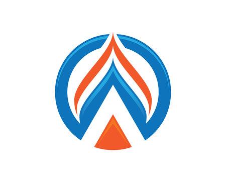 Goccia d'acqua Logo Design Template illustrazione vettoriale