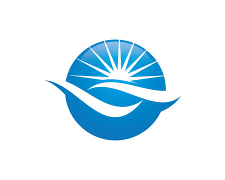 water s: Water Wave Logo Template illustration.