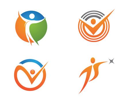 leaf logo: Healthy Life Logo. Vector illustration.