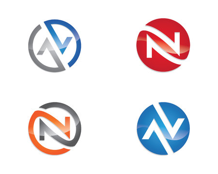 N Letter Logo Template. Vector illustration.