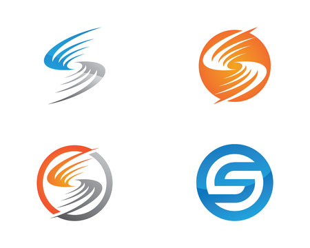 water s: S letter logo Template. Vector illustration. Illustration