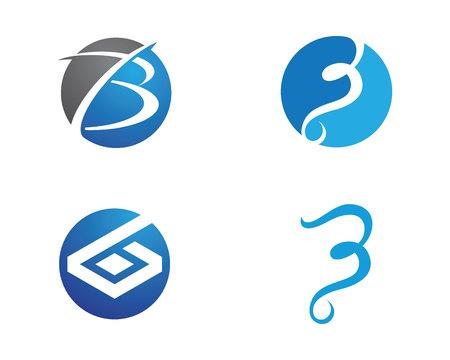 B Brief mit Schild Logo Vorlage Standard-Bild - 83241923
