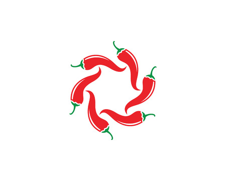 cayenne: Chili logo template vector icon illustration design Illustration