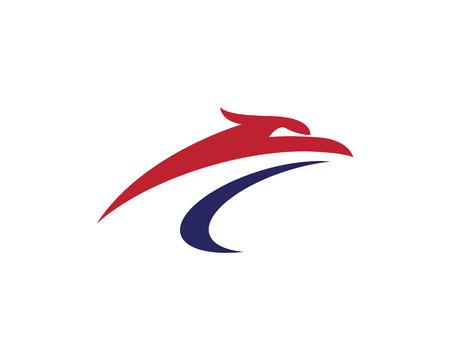 Falcon Logo Sjabloon ontwerp of adelaar hoofdconcept