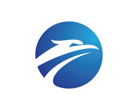 Falcon Logo Sjabloon of adelaar hoofd concept geïllustreerd in wit Stock Illustratie