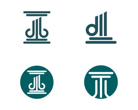 roman column: Column Logo Template Illustration