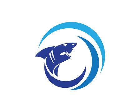Shark Logo Template vector icon illustration design Ilustrace