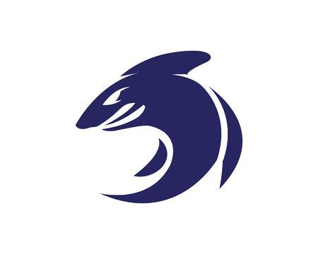 Shark Logo Template vector icon illustration design Illustration