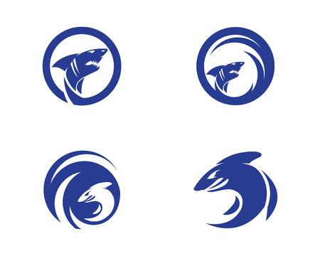 Shark Logo Template vector icon illustration design 向量圖像