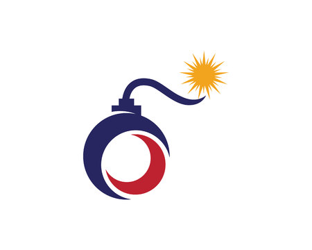 Grenade logo template vector icon illustration design Illustration