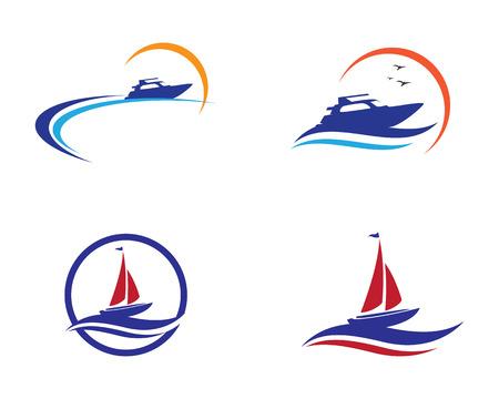 Cruise ship Logo template vector icon design