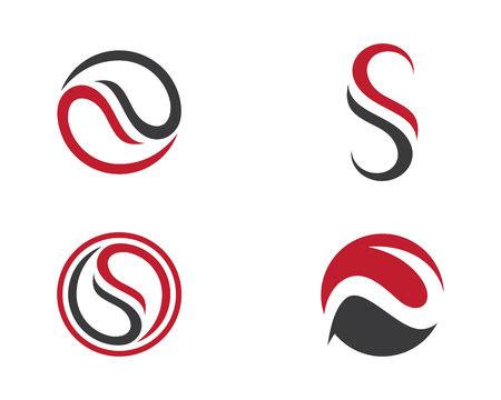 water s: S letter logo Template Illustration