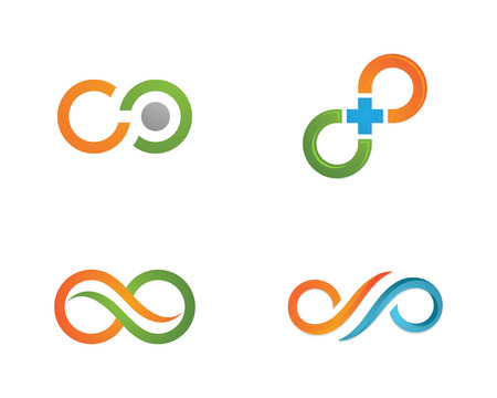 Infinity icon sjabloon Stock Illustratie
