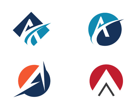 Um logotipo de carta Logos