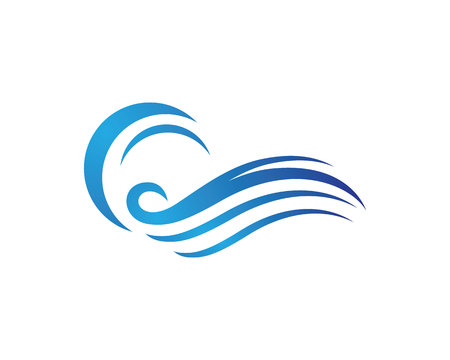 diving board: Water Wave Logo Template illustration.