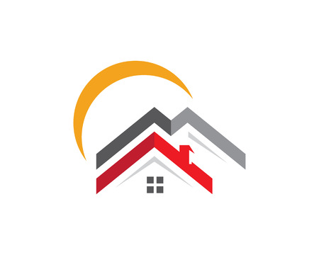 condominium: Property Logo Template. Vector illustration.