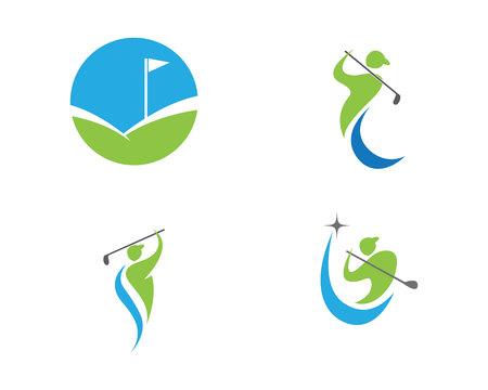 Golf Logo Template vector illustratie icoon ontwerp