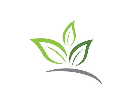 Eco Tree Leaf template. Illustration