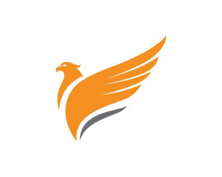 Falcon Wing Logo Sjabloon vector icoon ontwerp Stockfoto - 83873947