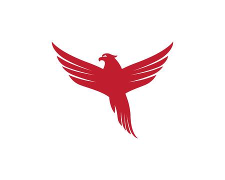 Falcon Logo Sjabloon illustratie. Stockfoto - 83872903