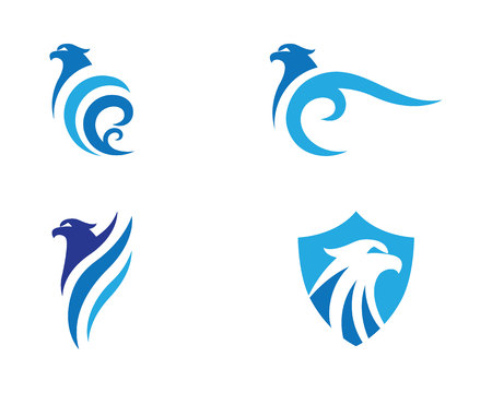 Falcon Logo Template illustration.