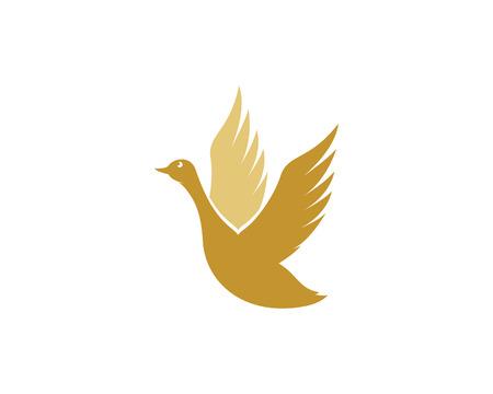 Swan logo Ilustración vectorial de plantilla. Foto de archivo - 83941429