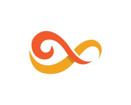 Infinity logo template Vector illustration.
