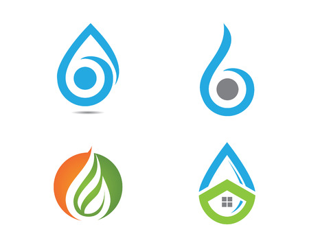 water drop template illustration design royalty free cliparts