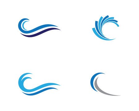 Water Wave Logo Template Ilustração