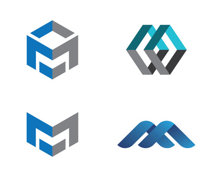M Letter Logo illustration.