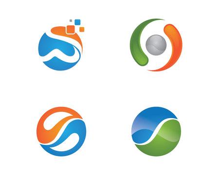 water s: S letter logo Template illustration.