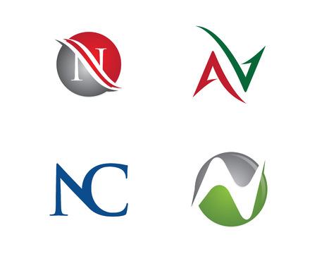 N Letter Logo Template illustration. Illustration