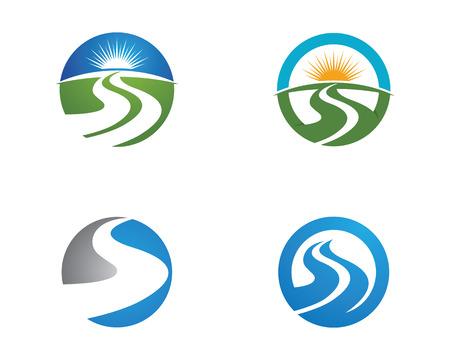 River Logo Template vector icon illustration design