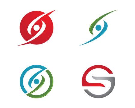 water s: S letter logo Template vector illustration on white background.