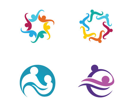 Gemeinschaftspflege Logo Standard-Bild - 84268181
